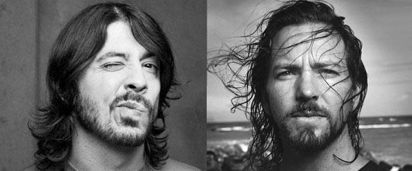 Dave Grohl y Eddie Vedder juntos en el escenario