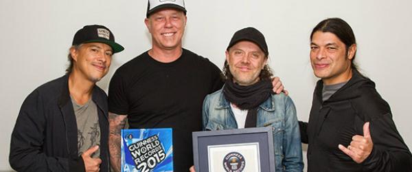 Metallica aparecerá en la edición 2015 del Guinness World Records