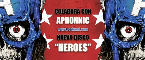 """Crowfunding para """"Heroes"""", el nuevo disco de Aphonnic"""