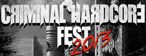 Cartel completo del Criminal Hardcore Fest 2013