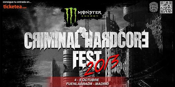 Cartel completo y toda la información del Criminal Hardcore Fest 2013