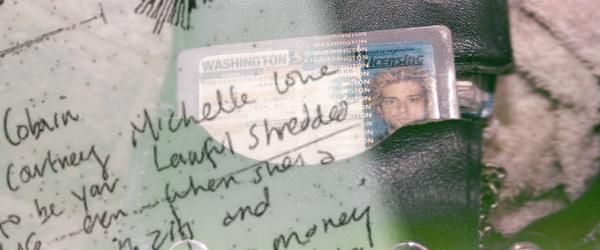 La nota en la cartera de Cobain es obra de Courtney Love