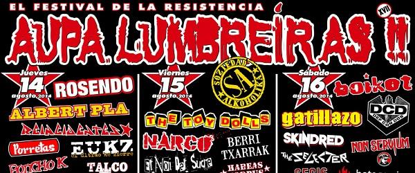 Confirmado el cartel definitivo del Aúpa Lumbreiras 2014