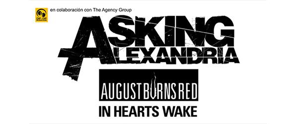 Gira de Asking Alexandria + August Burns Red + In Hearts Wake
