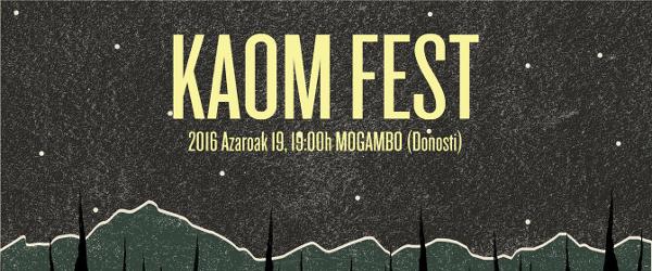 KAOM Fest, 19 de noviembre en Donosti