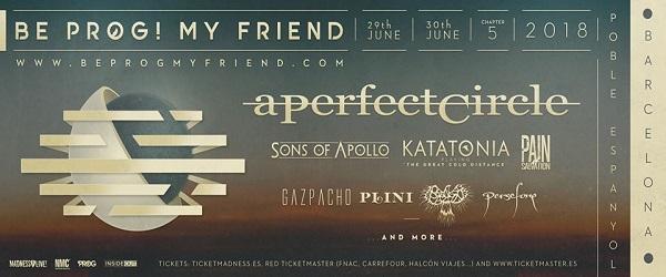 Be Prog! My Friend 2018 anuncia cabeza de cartel y más novedades