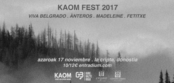 KAOM Fest, 17 de noviembre en San Sebastián