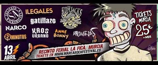 El Marearock Murcia confirma a Ilegales y The Rumjacks