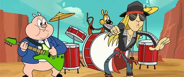 Axl Rose estrena tema como Looney Tunes