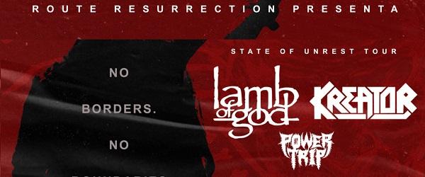 Nuevas fechas para la gira de Lamb Of God, Kreator y Power Trip en 2021