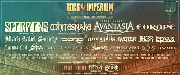El Rock Imperium Festival anuncia nuevas bandas para su próxima edición